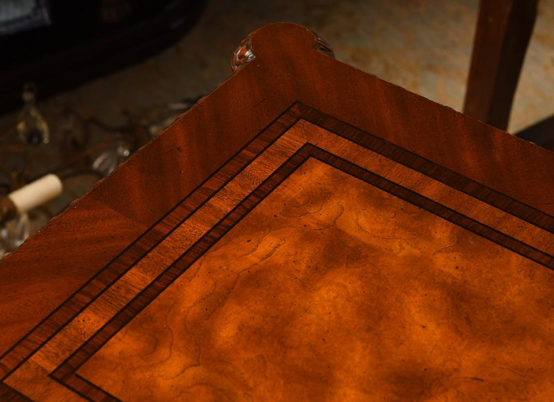Maitland-Smith mahogany inlaid side table - 2