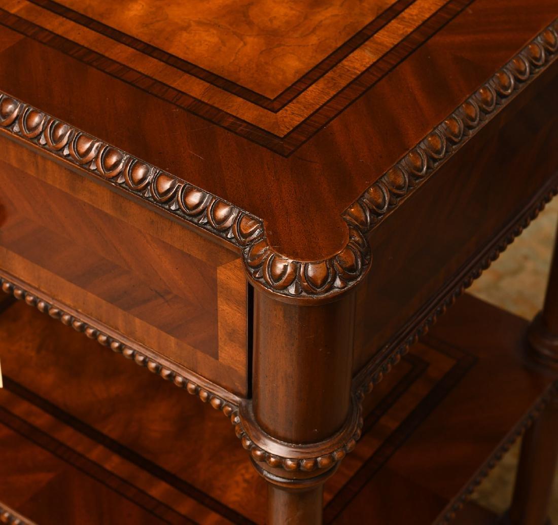 Maitland-Smith mahogany inlaid side table - 3