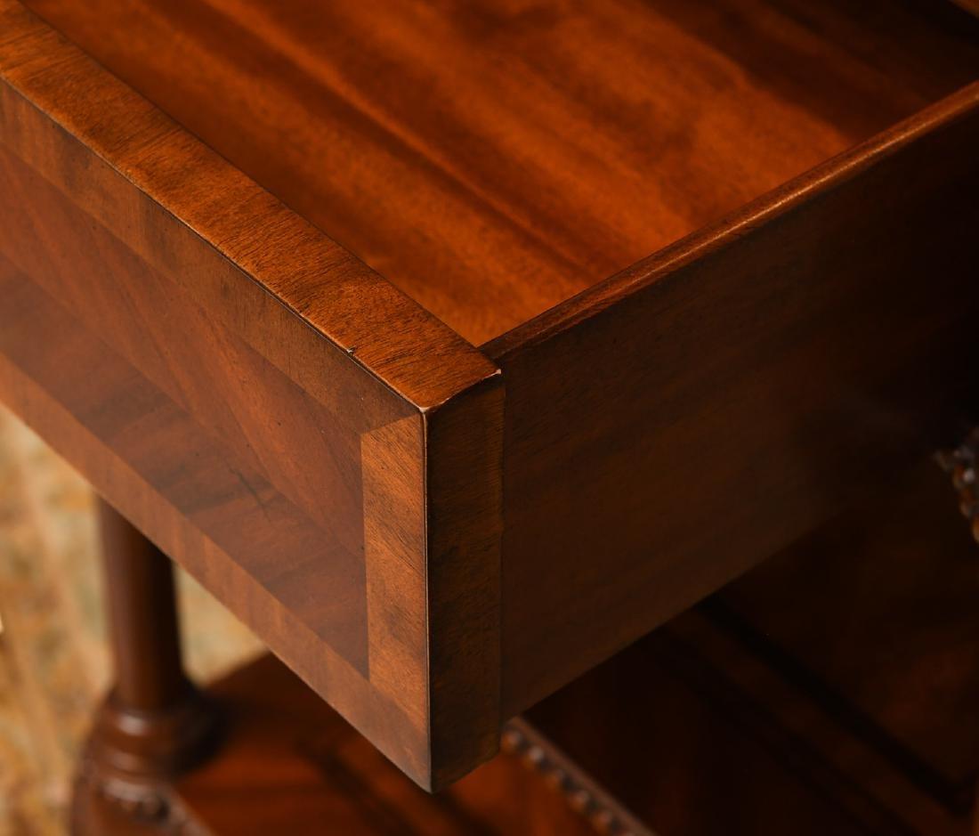 Maitland-Smith mahogany inlaid side table - 4