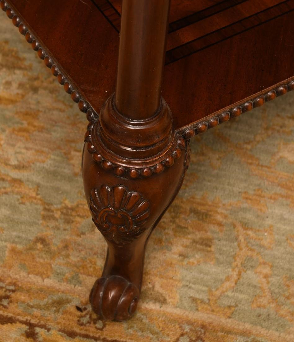Maitland-Smith mahogany inlaid side table - 5