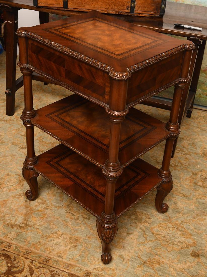 Maitland-Smith mahogany inlaid side table - 6
