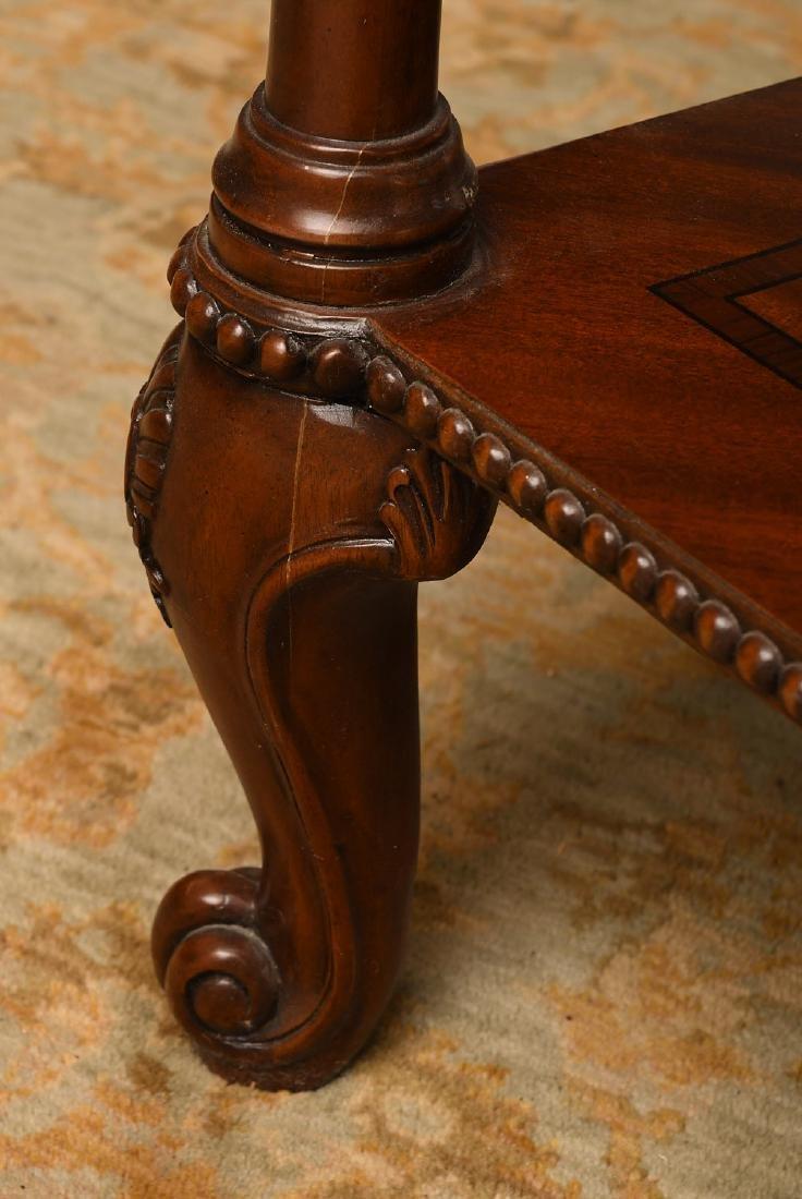 Maitland-Smith mahogany inlaid side table - 7