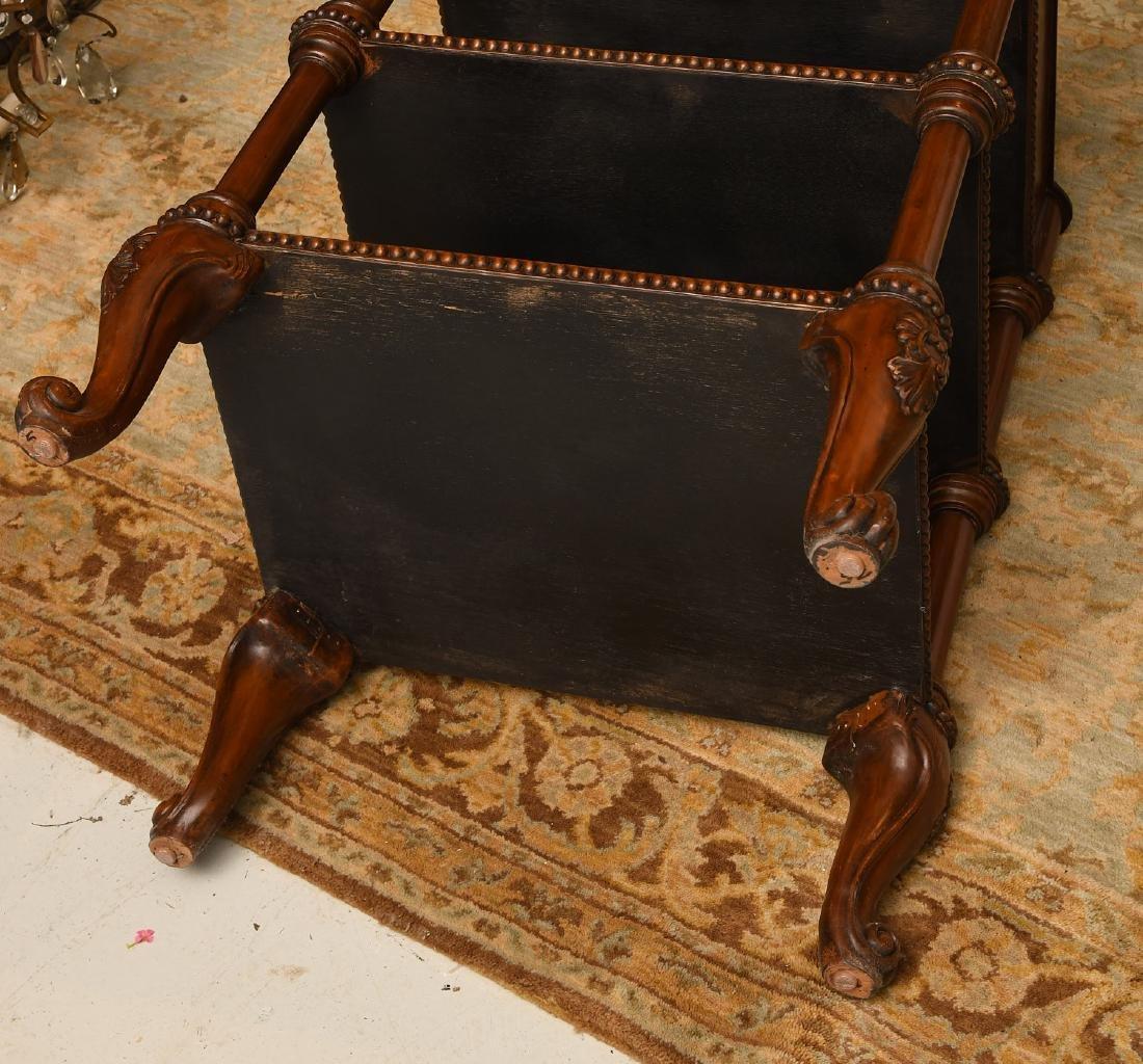 Maitland-Smith mahogany inlaid side table - 8