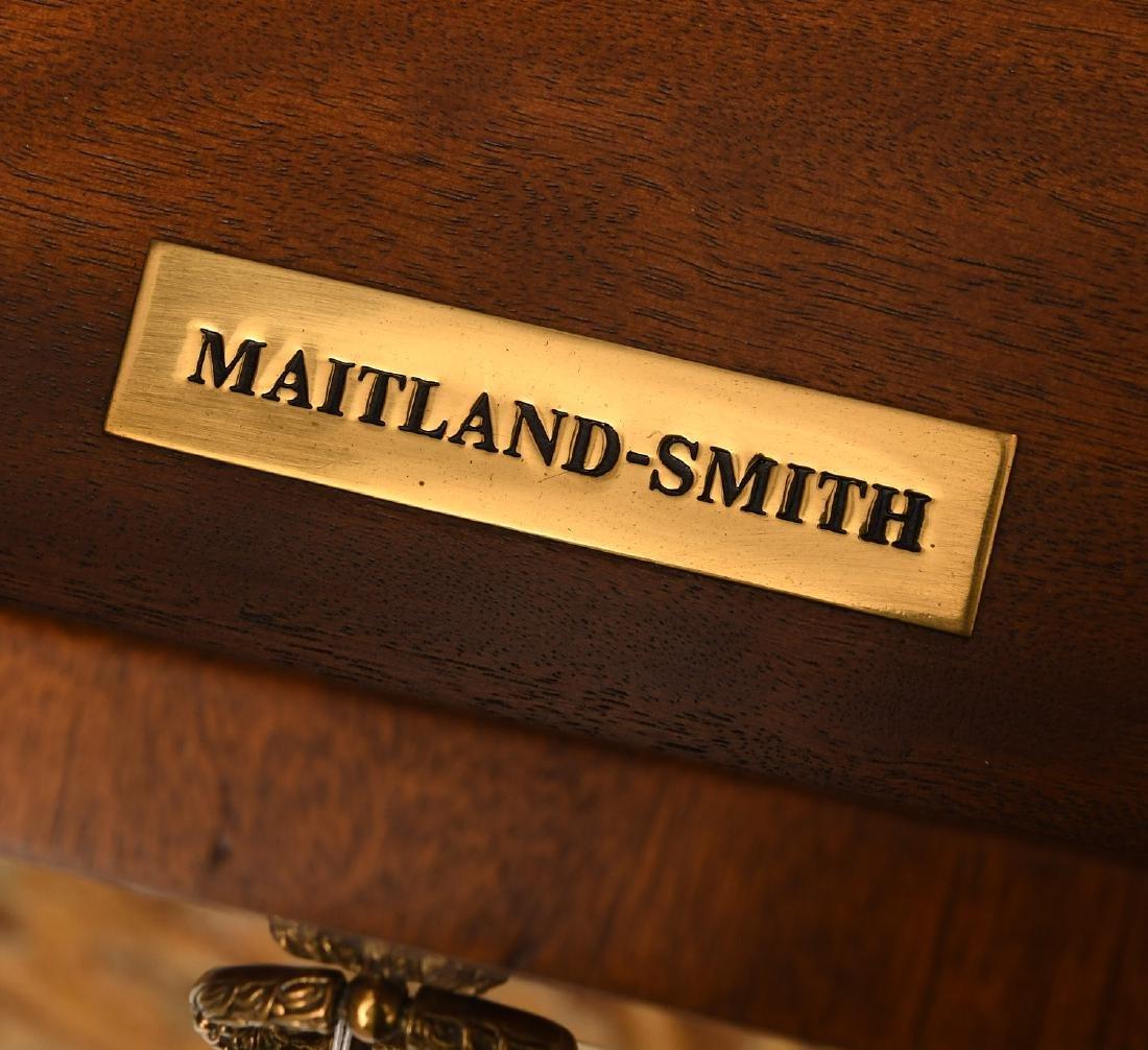 Maitland-Smith mahogany inlaid side table - 9