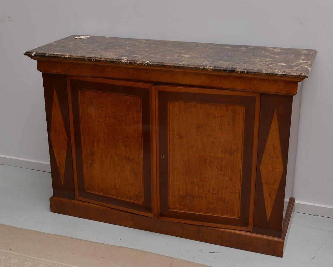 Regency style marble top credenza