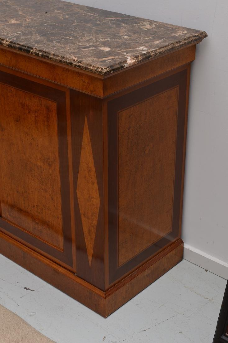 Regency style marble top credenza - 2