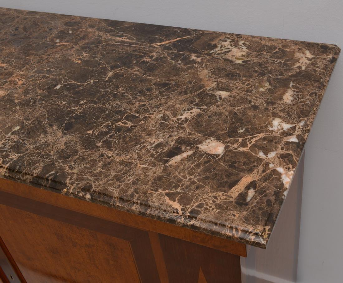 Regency style marble top credenza - 5