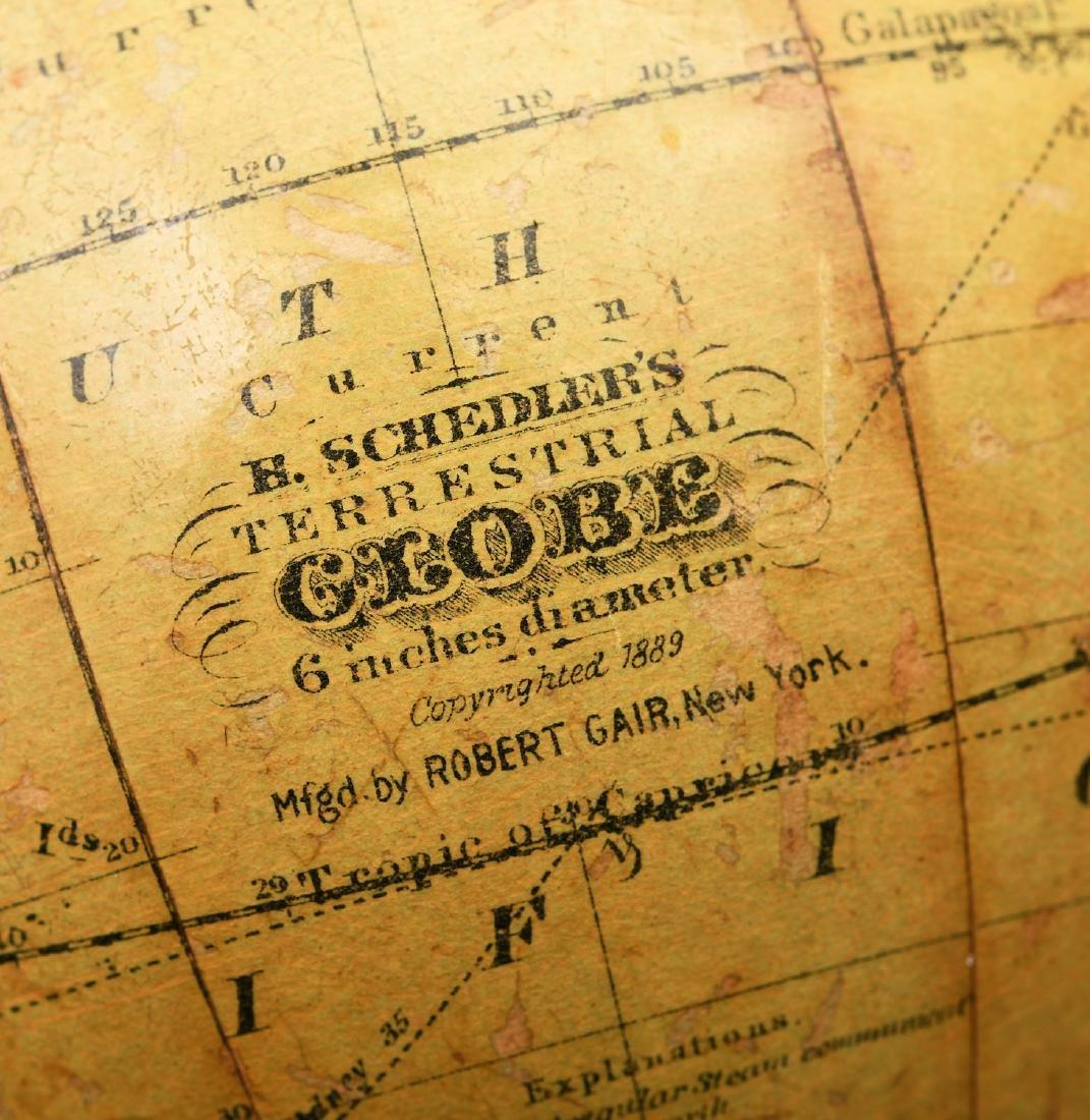 Schedler 6-inch terrestrial globe - 5