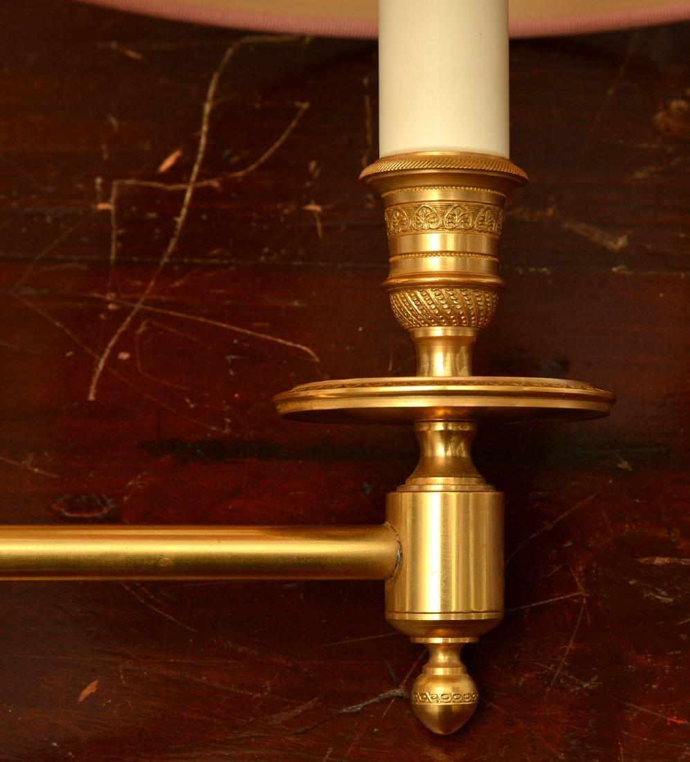 Pair decorator quality bronze swing arm sconces - 2