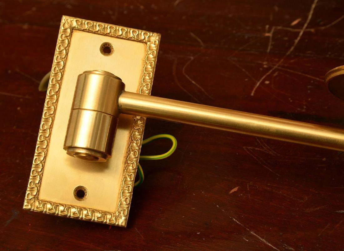 Pair decorator quality bronze swing arm sconces - 3