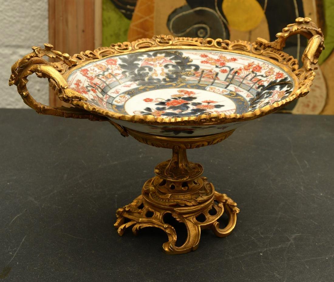 Bronze mounted Imari porcelain centerpiece
