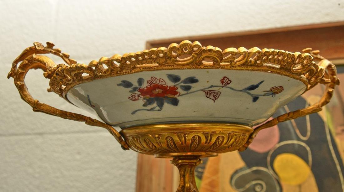 Bronze mounted Imari porcelain centerpiece - 3