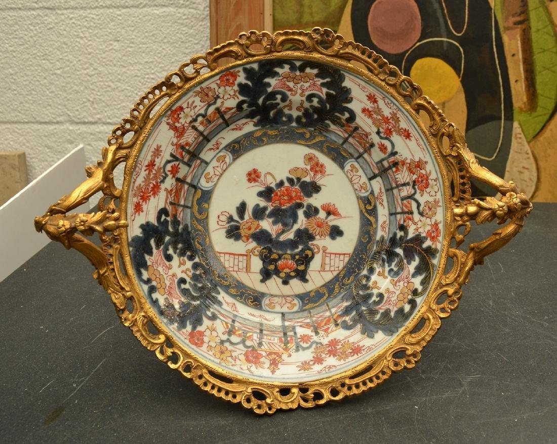 Bronze mounted Imari porcelain centerpiece - 4