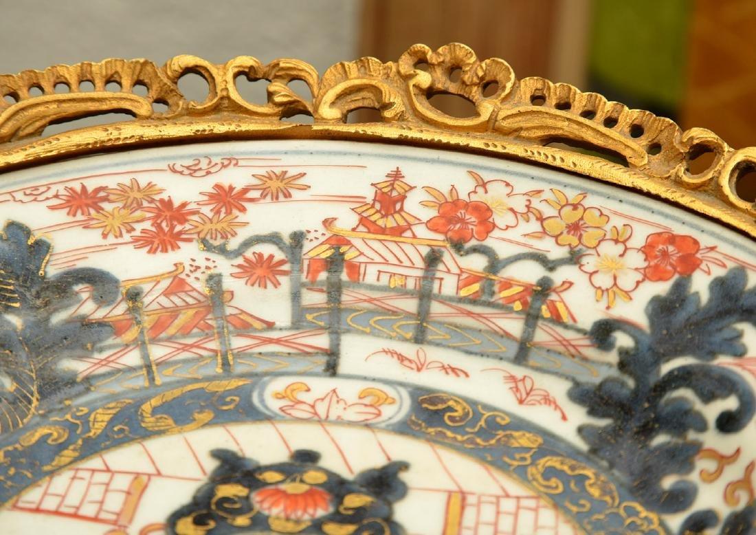 Bronze mounted Imari porcelain centerpiece - 5