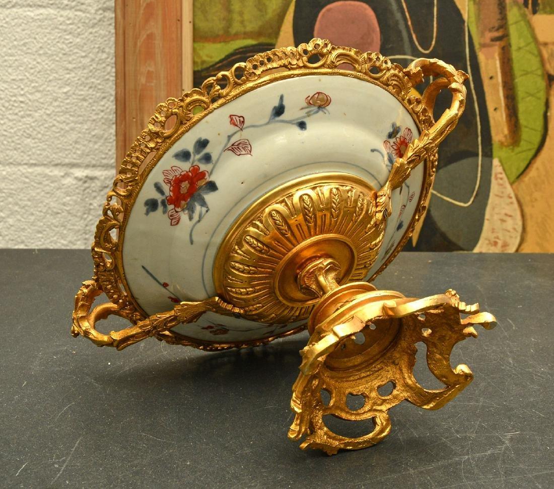 Bronze mounted Imari porcelain centerpiece - 6