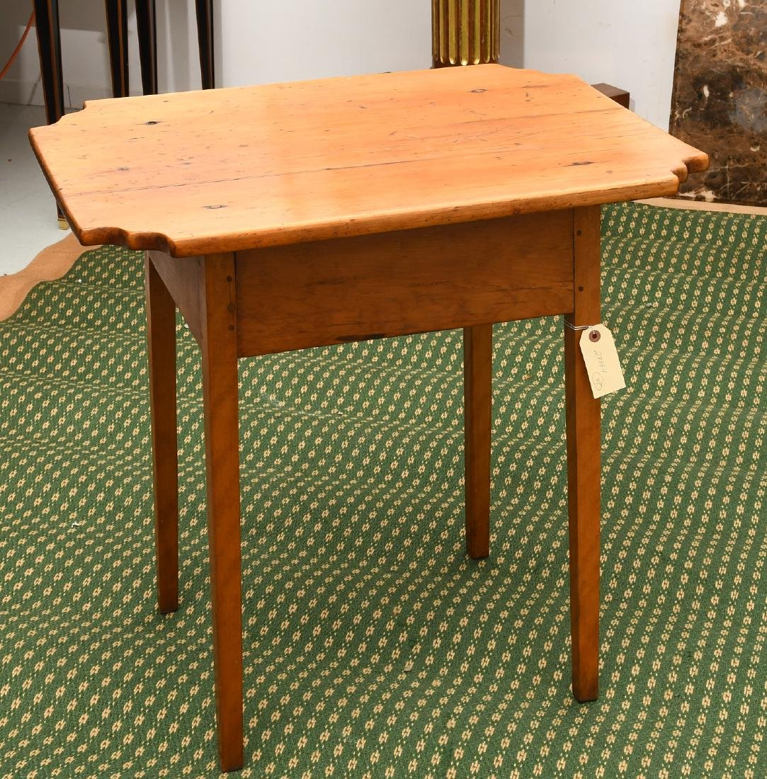 Old country pine side table