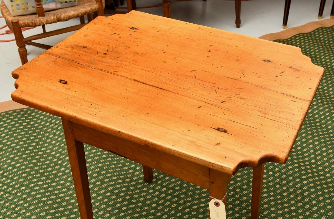 Old country pine side table - 2