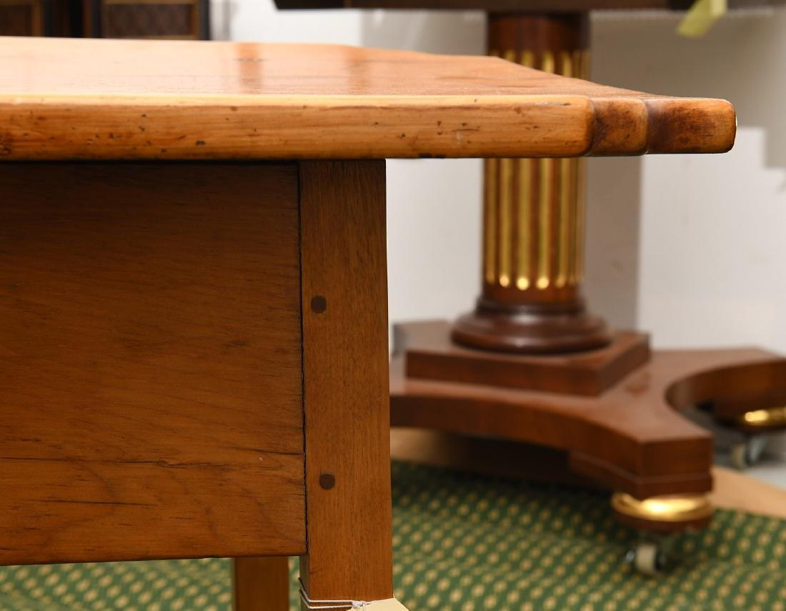 Old country pine side table - 4