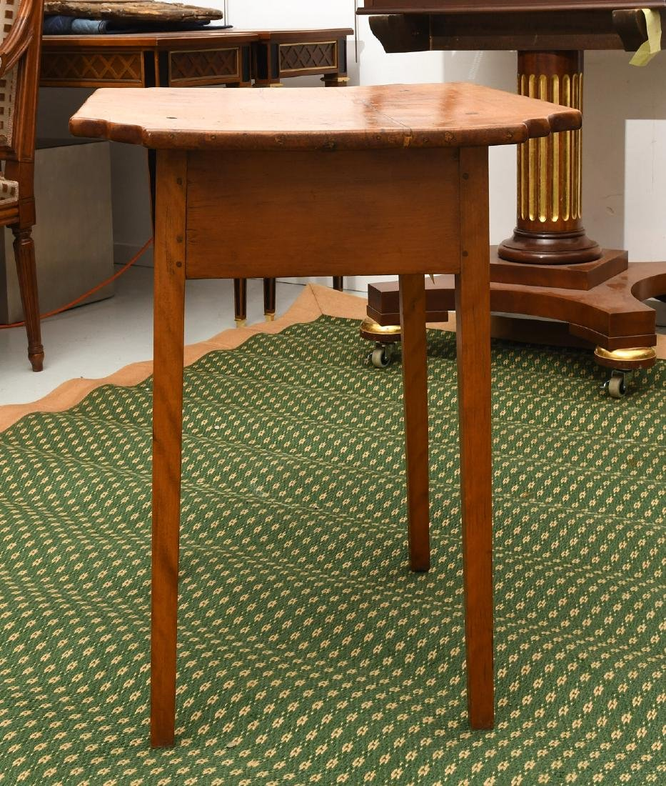 Old country pine side table - 6