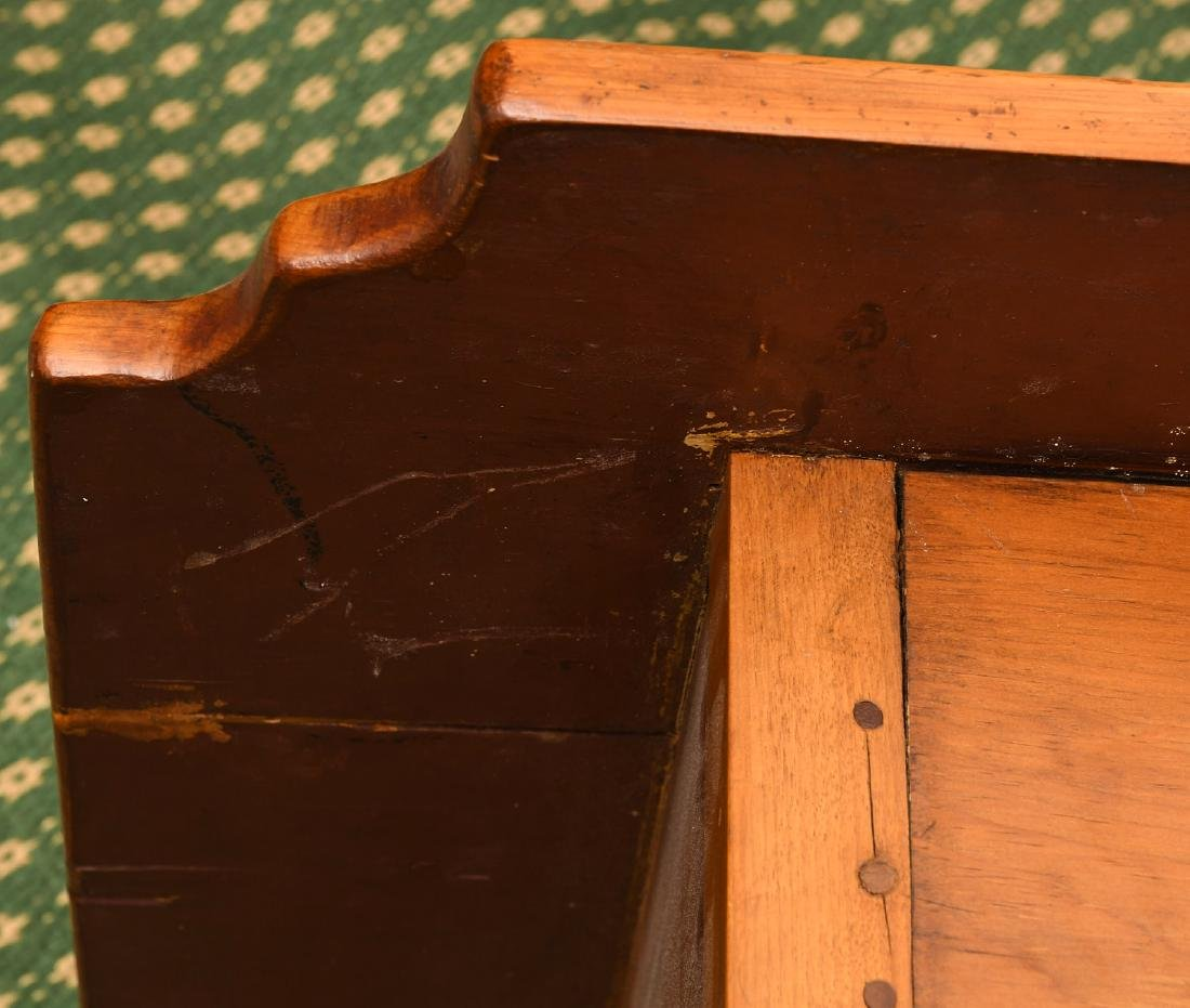 Old country pine side table - 8