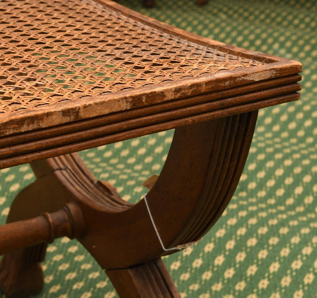 Neo-Classical style caned curule bench - 5