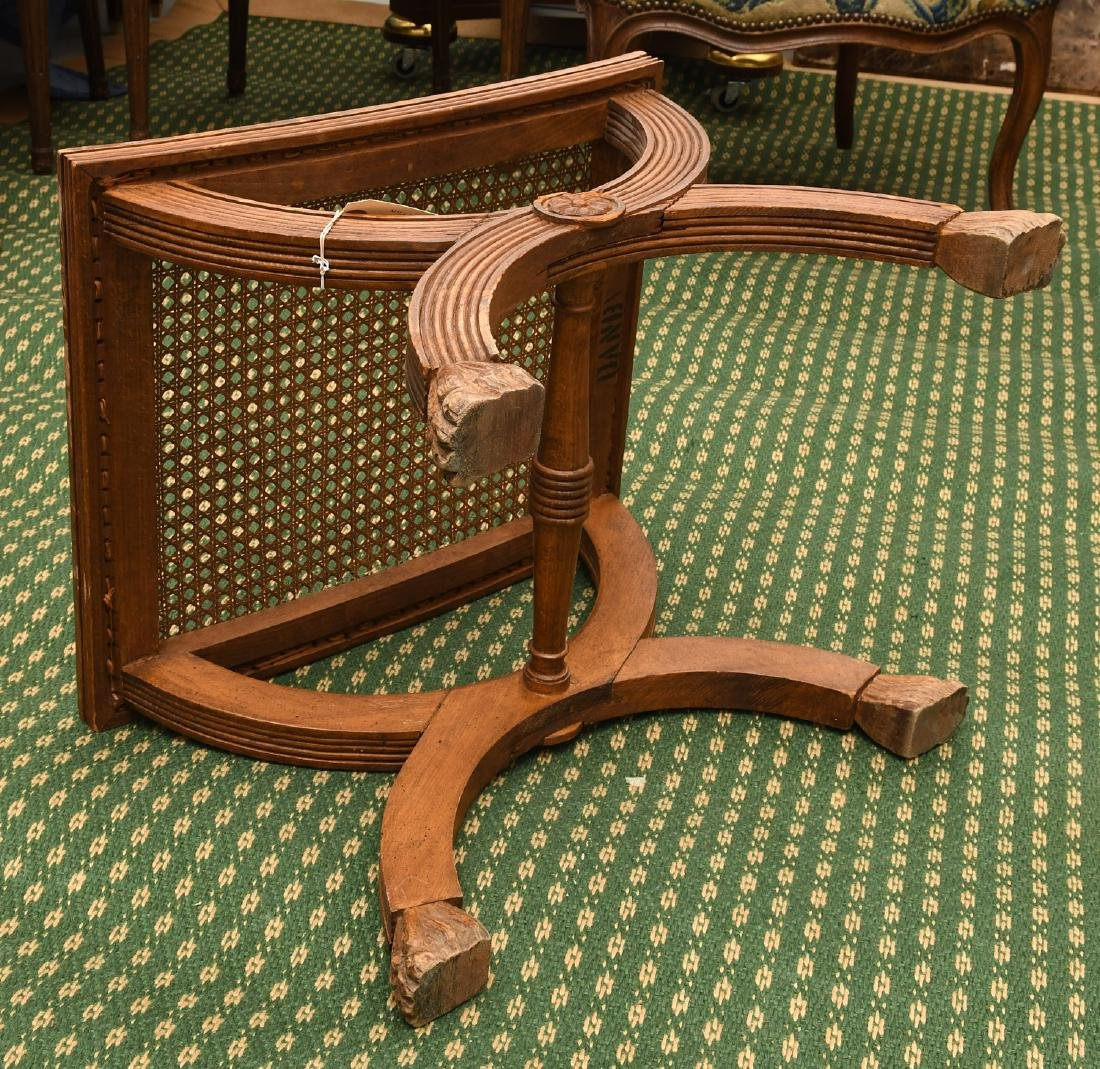Neo-Classical style caned curule bench - 6