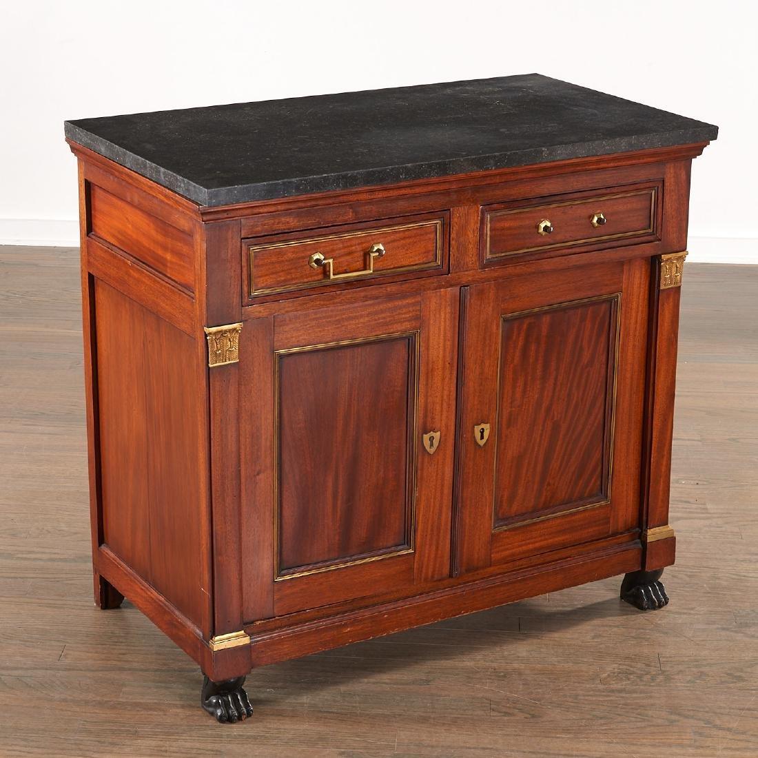 Regency style mahogany cabinet