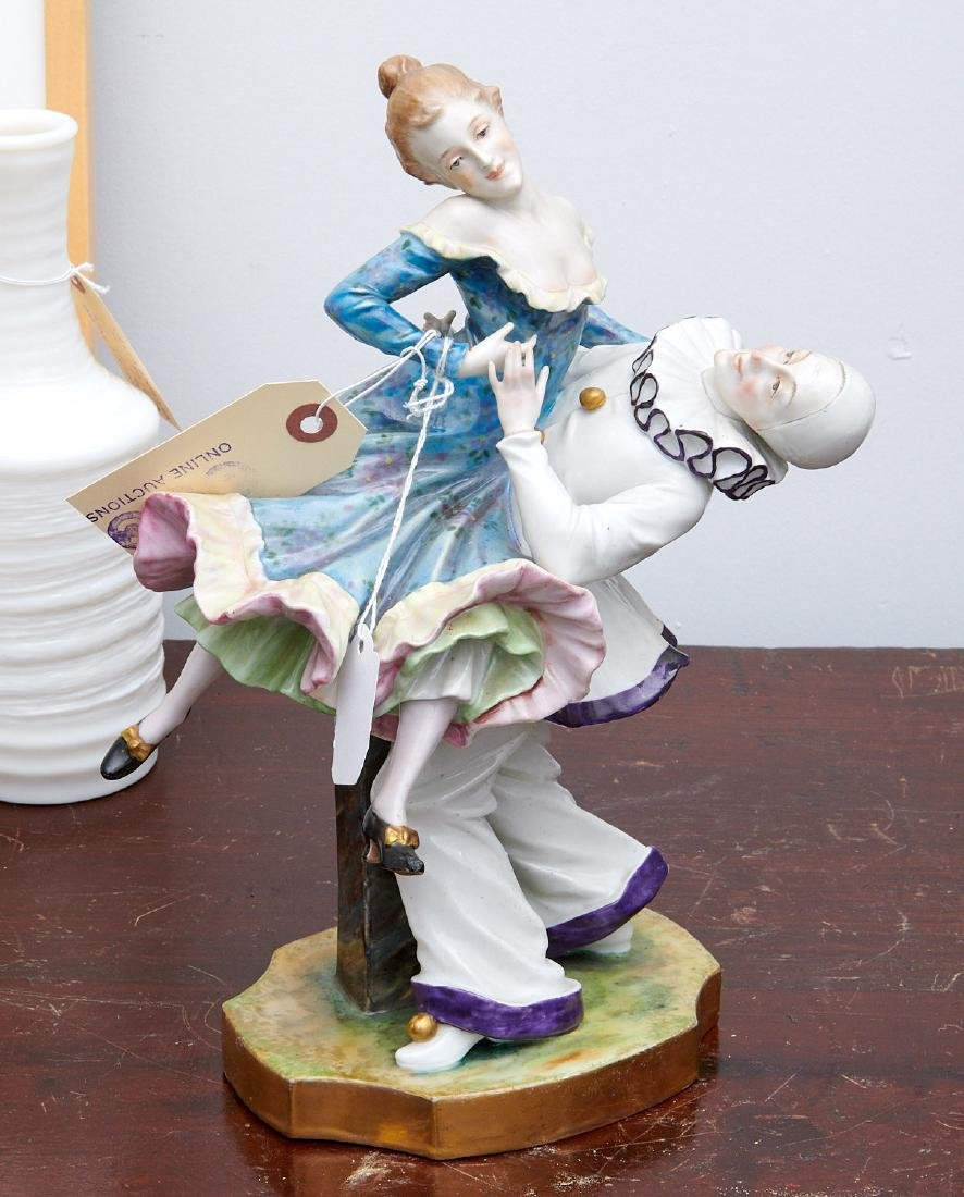 Vienna porcelain figure, Pierrot and Pierrette