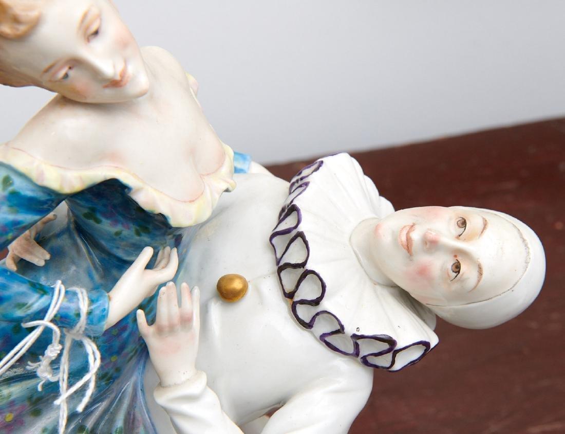 Vienna porcelain figure, Pierrot and Pierrette - 5