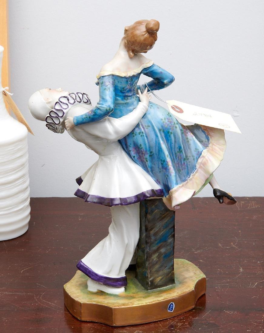 Vienna porcelain figure, Pierrot and Pierrette - 6