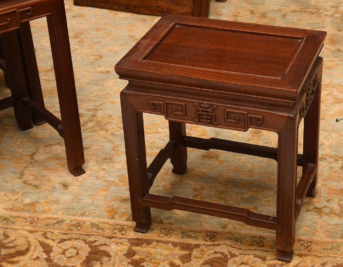 Set (4) Chinese carved hardwood nesting tables - 2