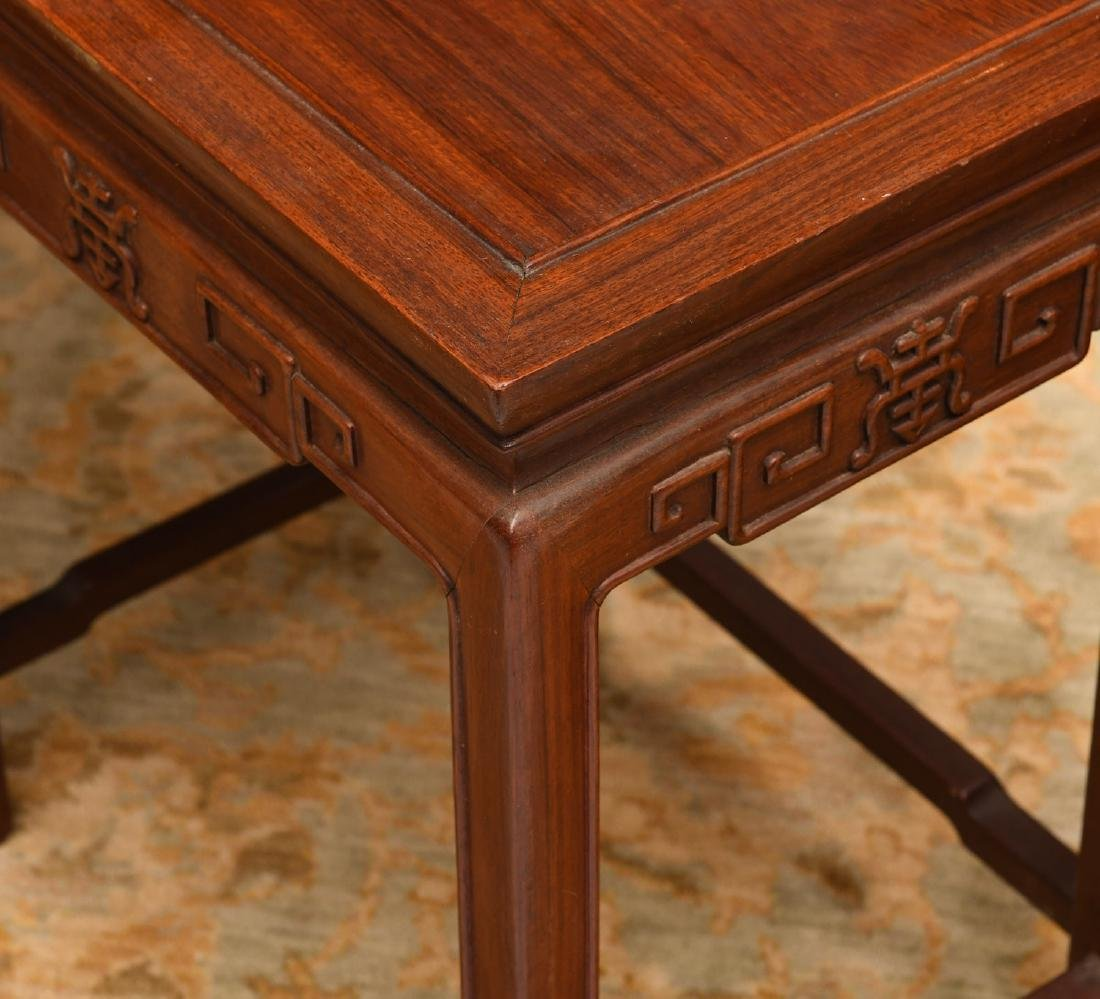 Set (4) Chinese carved hardwood nesting tables - 3
