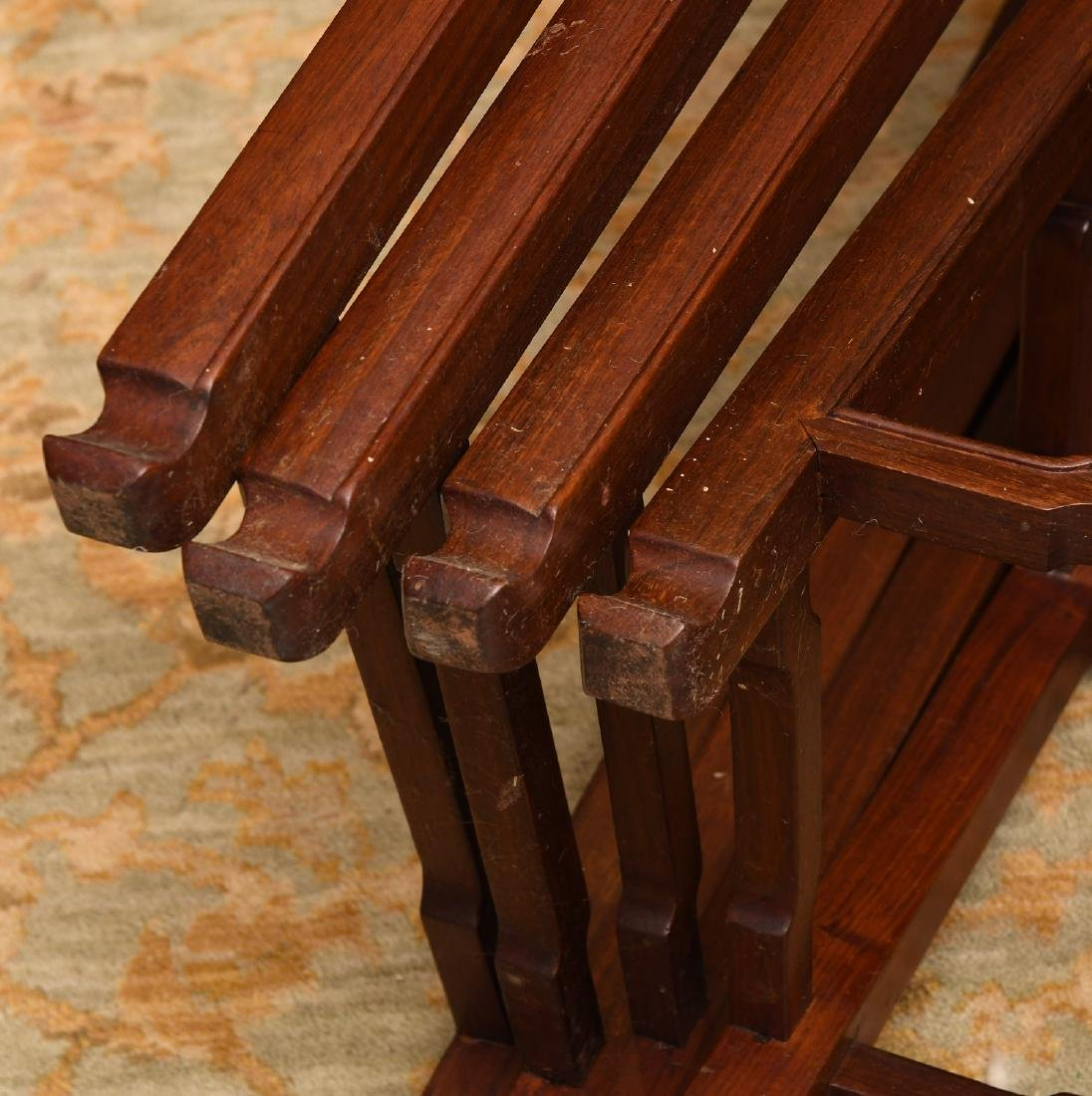 Set (4) Chinese carved hardwood nesting tables - 9