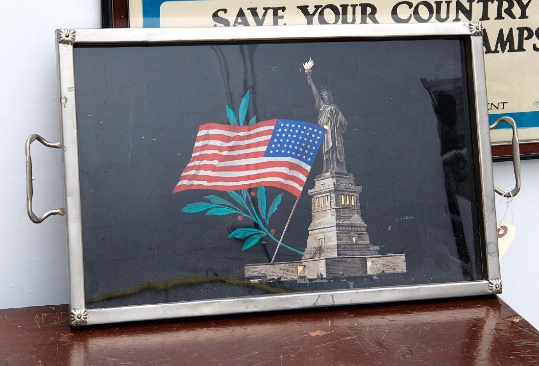 Art Deco Statue of Liberty eglomise tray - 5