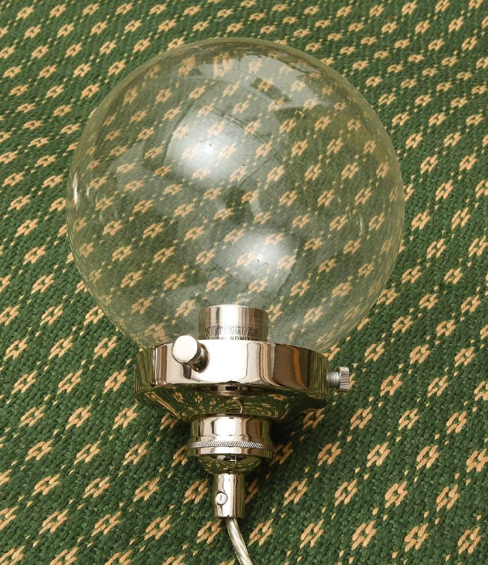 Set (3) glass globe pendant lights - 2