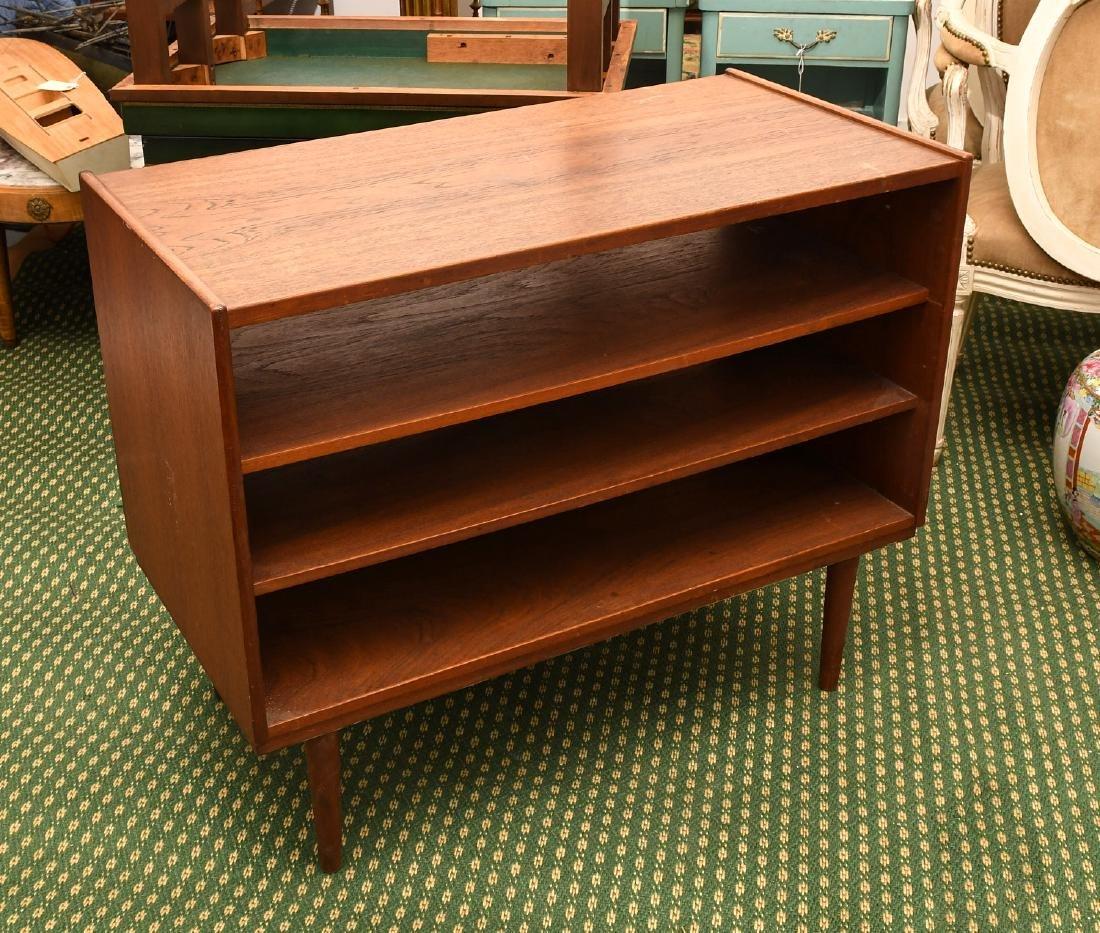 Danish teak open bookshelf