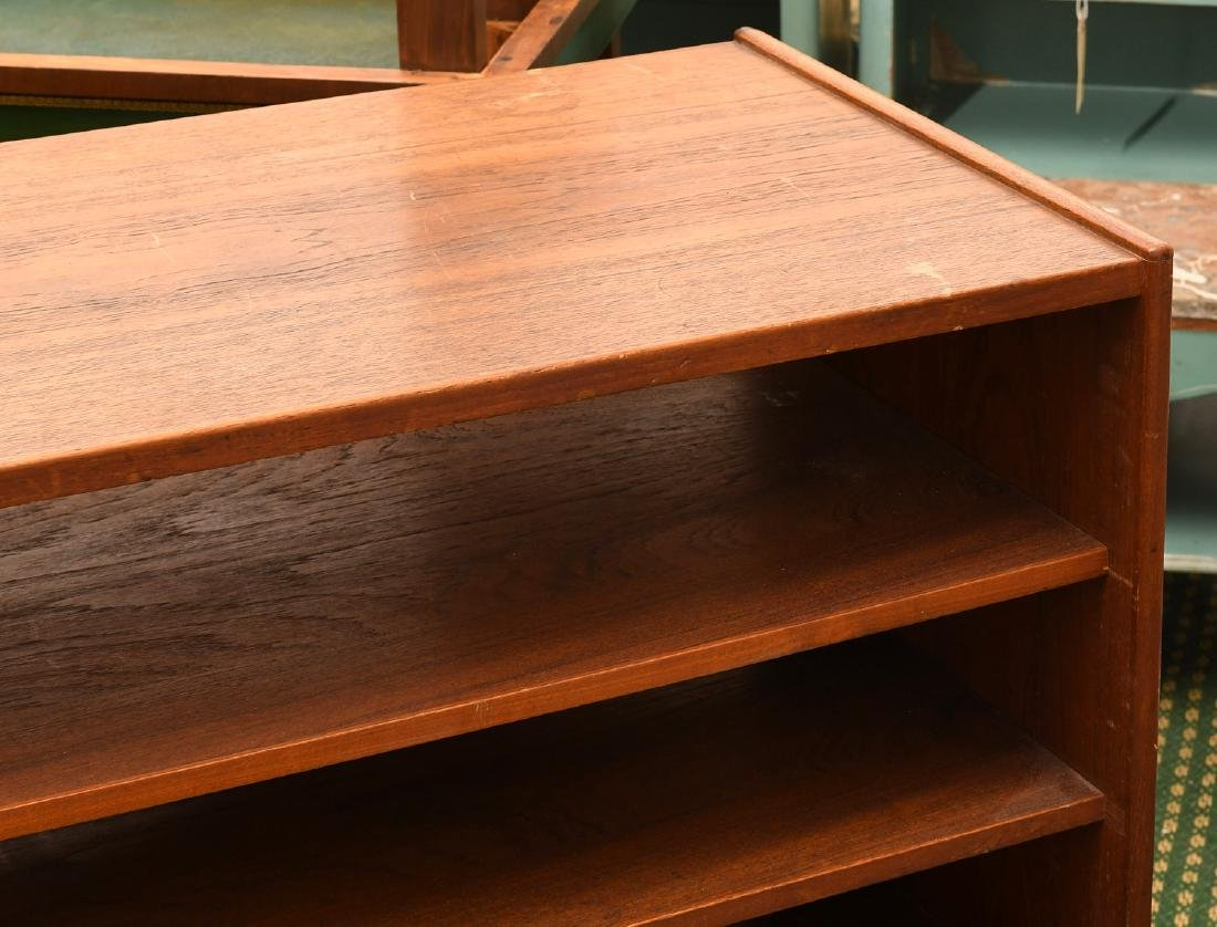 Danish teak open bookshelf - 3