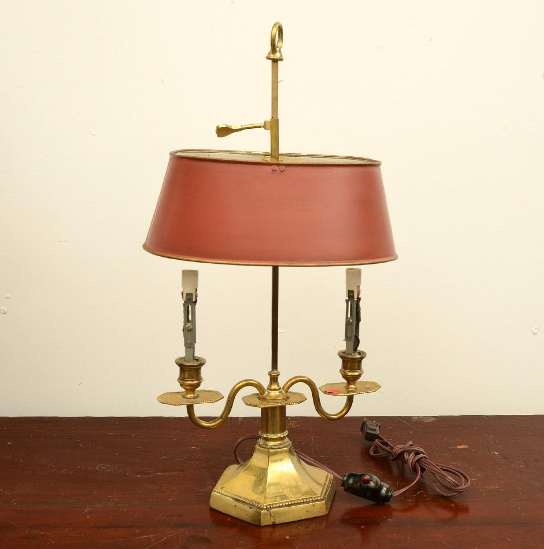 (2) Empire style bouillotte and stick lamps - 2