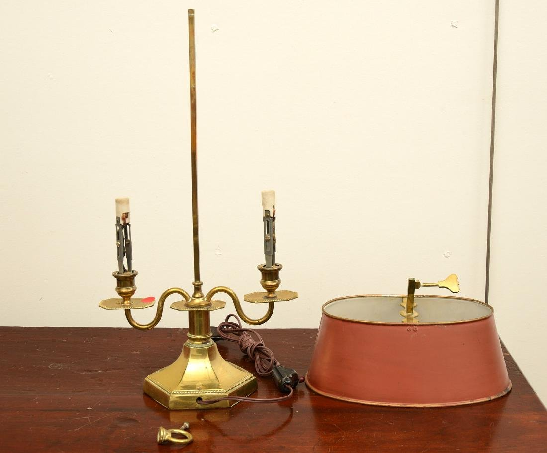 (2) Empire style bouillotte and stick lamps - 7