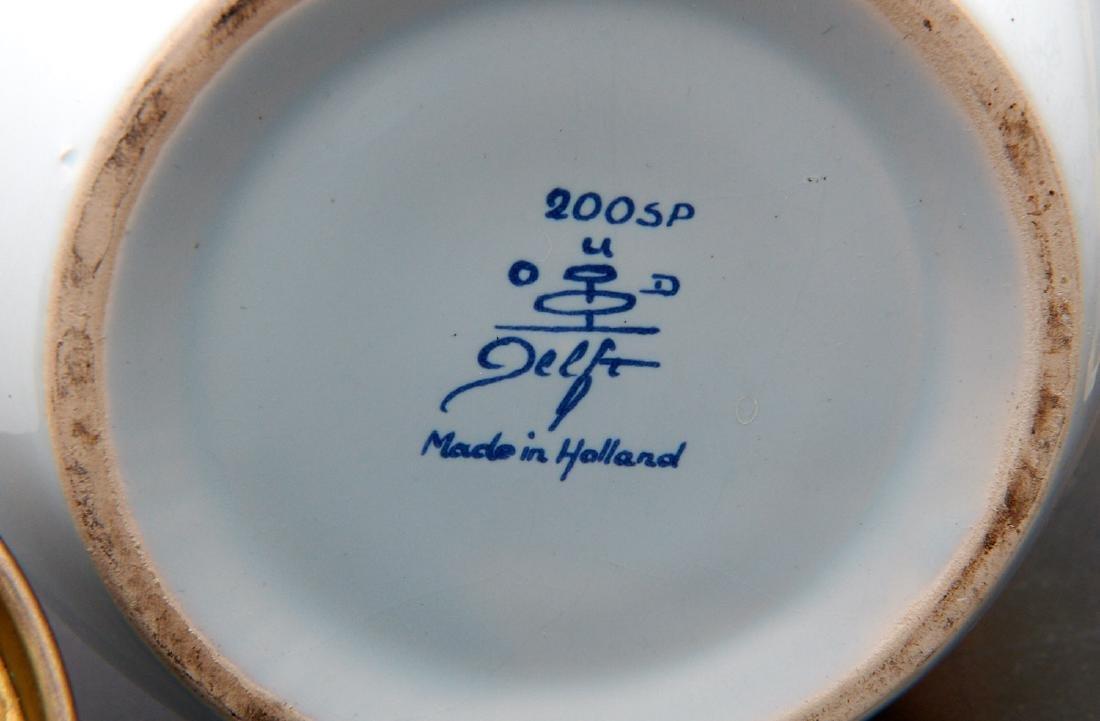 (2) Delft blue and white tobacco jars - 10