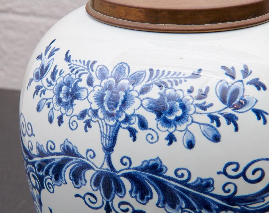 (2) Delft blue and white tobacco jars - 3
