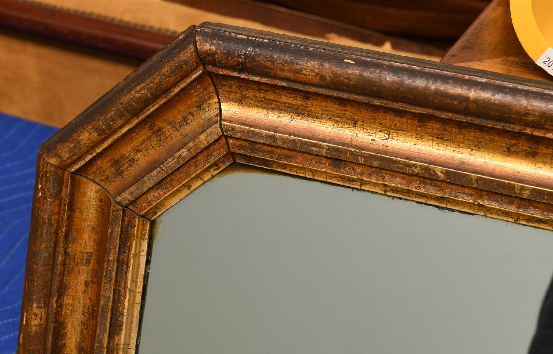 Large gilt molded frame wall mirror - 2