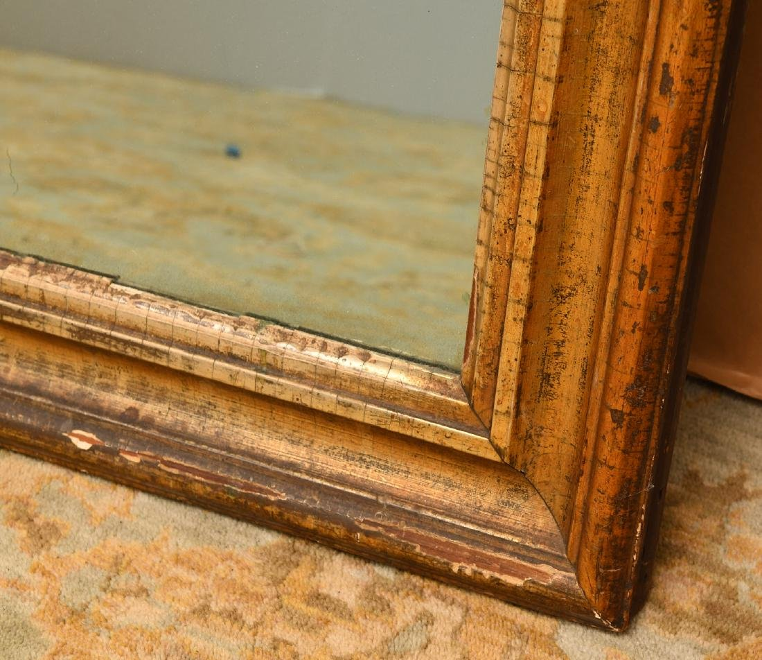 Large gilt molded frame wall mirror - 3