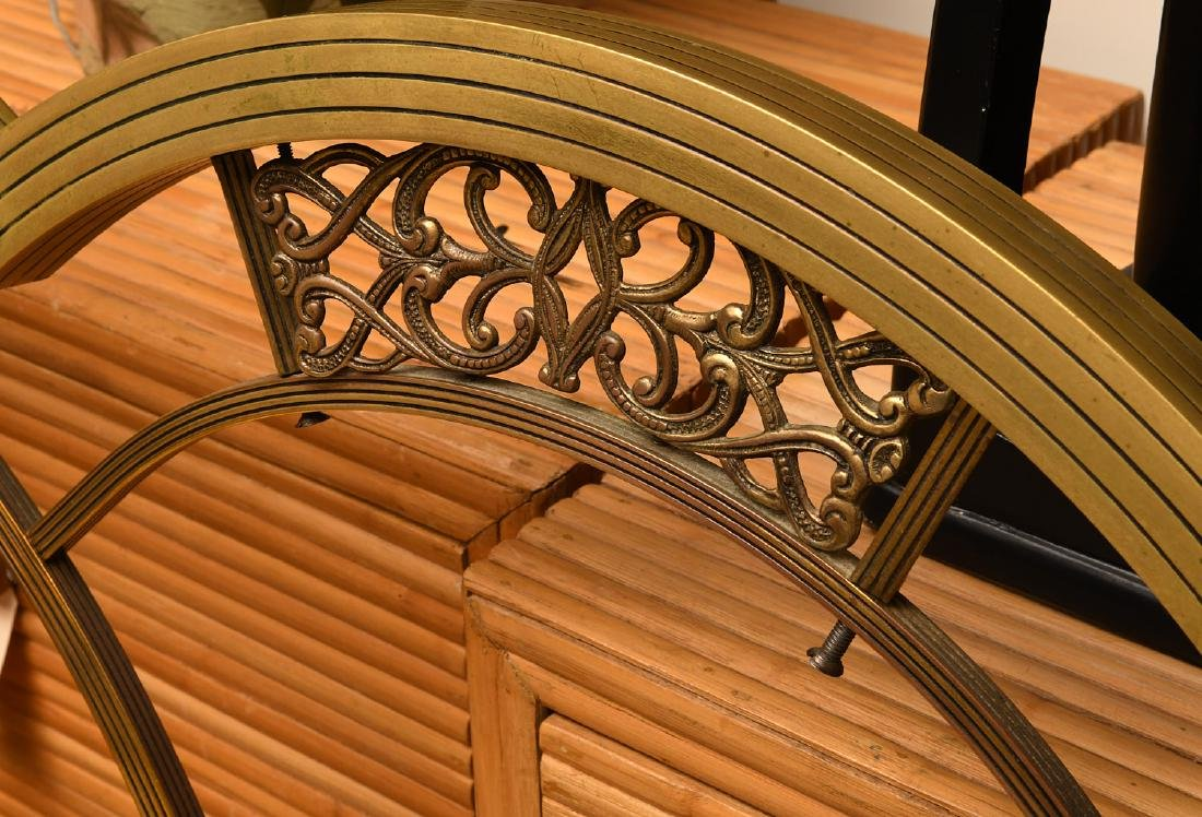 Art Deco brass headboard and footboard