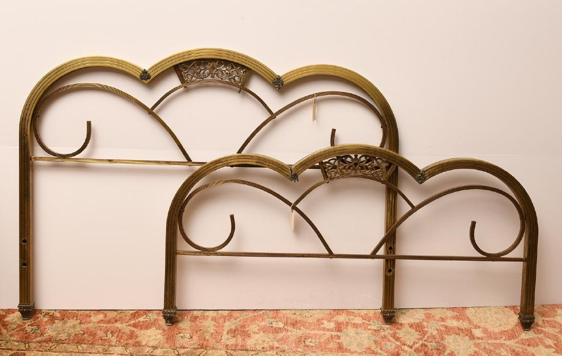 Art Deco brass headboard and footboard - 4