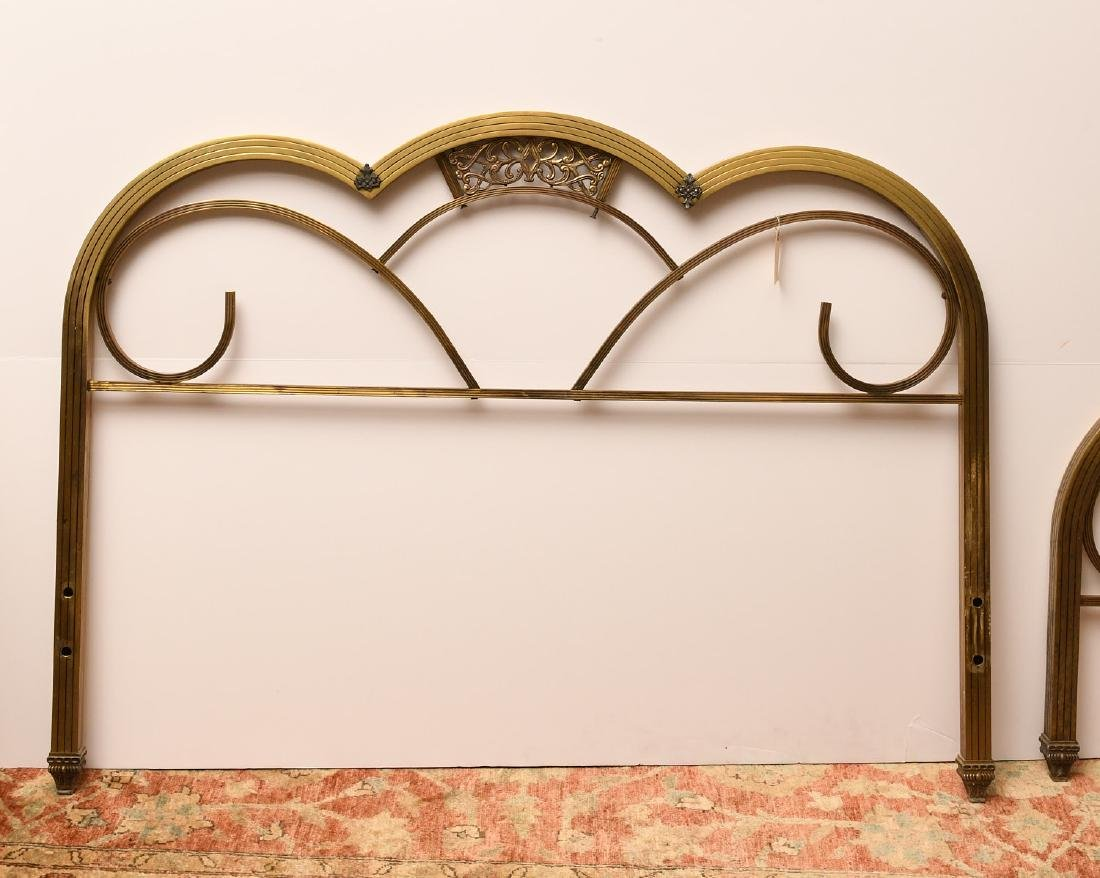 Art Deco brass headboard and footboard - 5