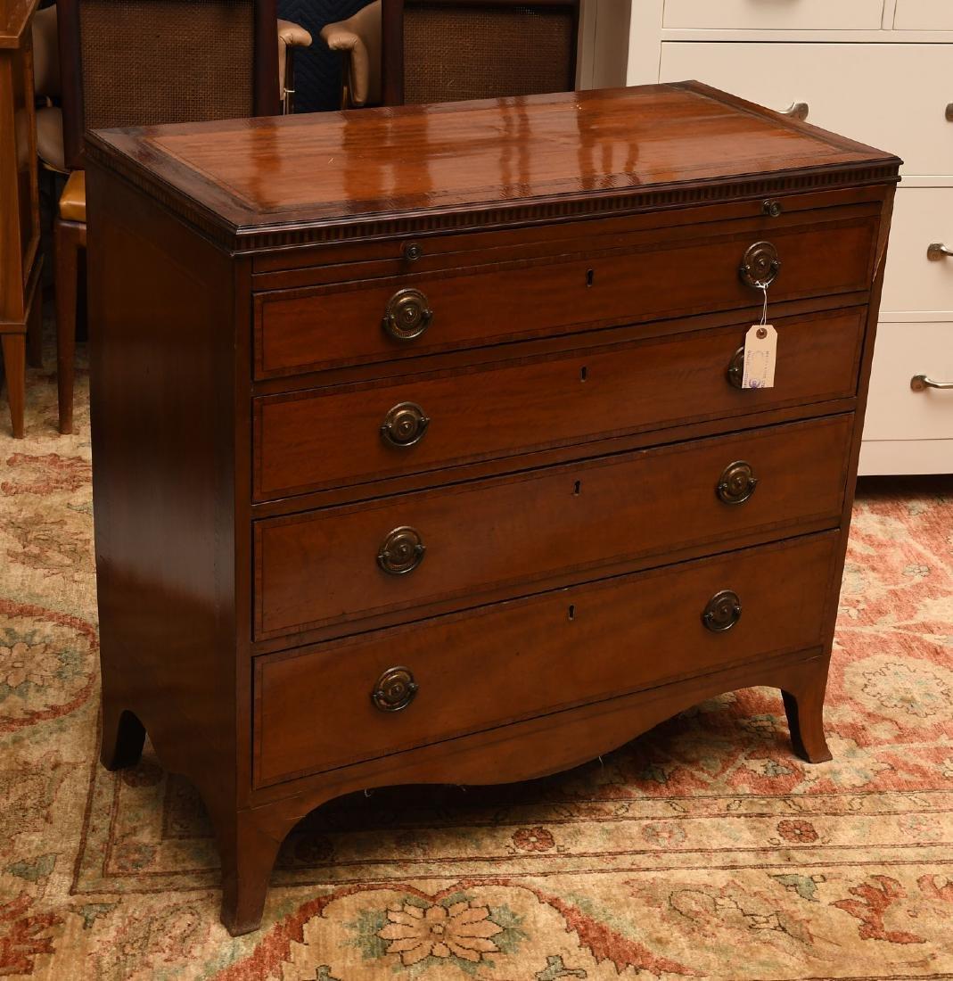 George III mahogany inlaid chest of drawers