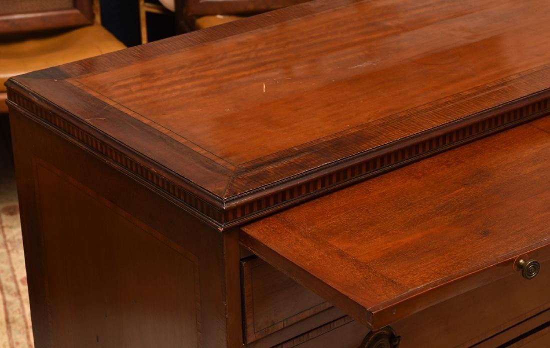 George III mahogany inlaid chest of drawers - 3