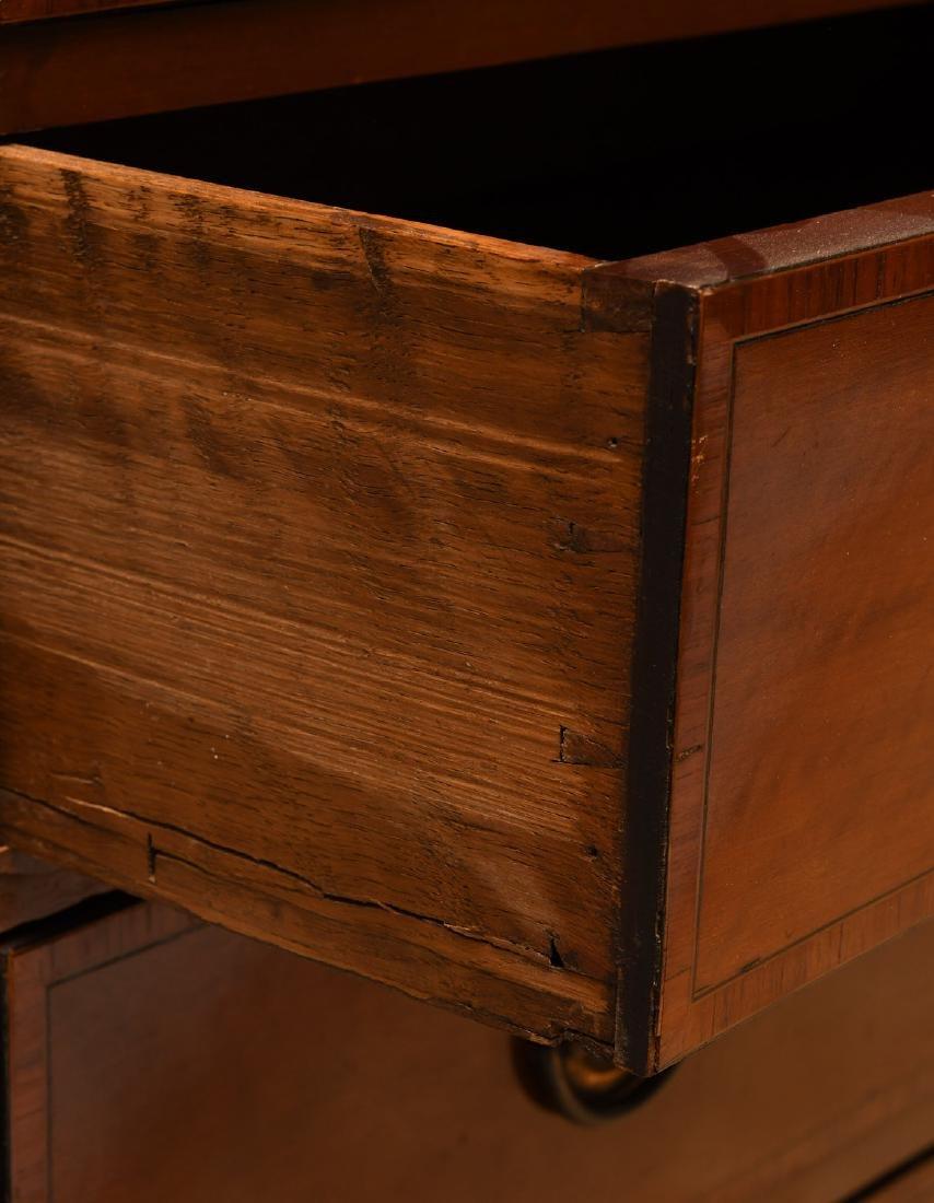 George III mahogany inlaid chest of drawers - 4