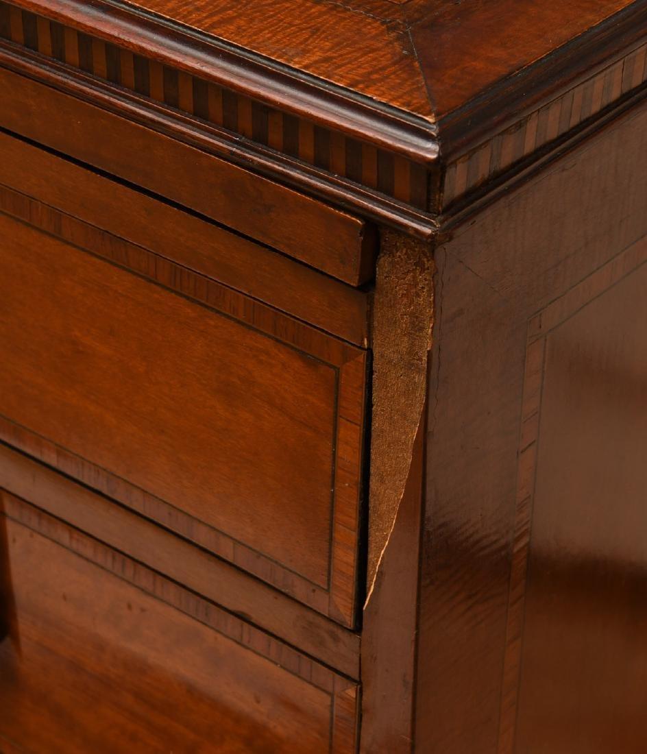 George III mahogany inlaid chest of drawers - 5